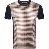 Product Image for Aquascutum Greg Club Check T Shirt Navy