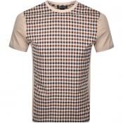 Product Image for Aquascutum Greg Club Check T Shirt Beige