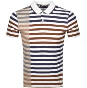 Product Image for Aquascutum Northfleet Striped Polo T Shirt Brown