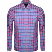 Product Image for Aquascutum York Club Check Long Sleeve Shirt Blue