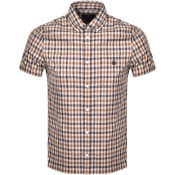 Product Image for Aquascutum York Check Short Sleeve Shirt Brown
