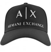 Product Image for Armani Exchange logo Baseball Cap Black