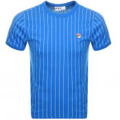 Product Image for Fila Vintage Guilo Pinstripe T Shirt Blue