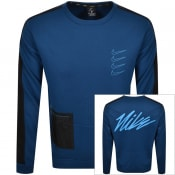 Product Image for Nike Dri Fit Sweatshirt Blue