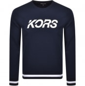 Product Image for Michael Kors Crew Neck Logo Sweatshirt Navy