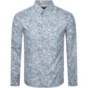 Product Image for Pretty Green Marshall Long Sleeved Shirt Green