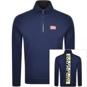 Product Image for Napapijri Bito Half Zip Sweatshirt Blue