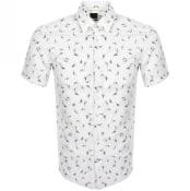 Product Image for BOSS Ronn Slim Fit Short Sleeve Shirt White