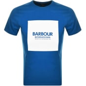 Product Image for Barbour International Block Logo T Shirt Blue