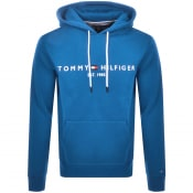 Product Image for Tommy Hilfiger Logo Pullover Hoodie Blue