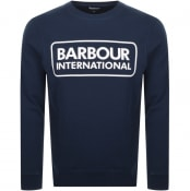 Product Image for Barbour International Crew Neck Sweatshirt Navy