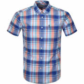 Product Image for Barbour Madras Check Short Sleeved Shirt Blue