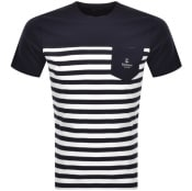 Product Image for Barbour Ammon Stripe T Shirt Navy