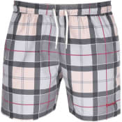Product Image for Barbour Tartan Swim Shorts Grey