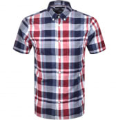 Product Image for Tommy Hilfiger Check Short Sleeve Shirt Navy