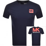 Product Image for Michael Kors Patch Logo T Shirt Navy