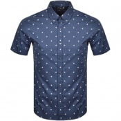 Product Image for Michael Kors Box Print Short Sleeve Shirt Navy