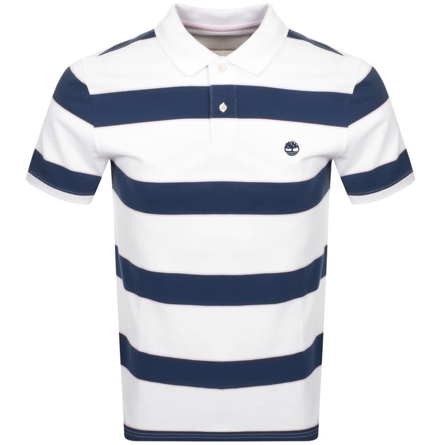 Subordinar cruzar seré fuerte  Timberland Logo Short Sleeved Polo T Shirt White   Mainline Menswear Sweden