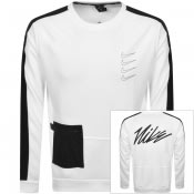 Product Image for Nike Dri Fit Sweatshirt White