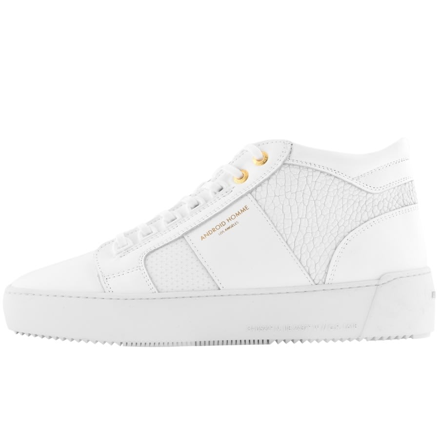Android Homme Propulsion Mid Trainers White Mainline Menswear Denmark