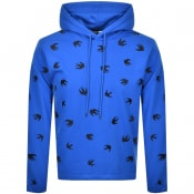 Product Image for MCQ Alexander McQueen Swallow Hoodie Blue