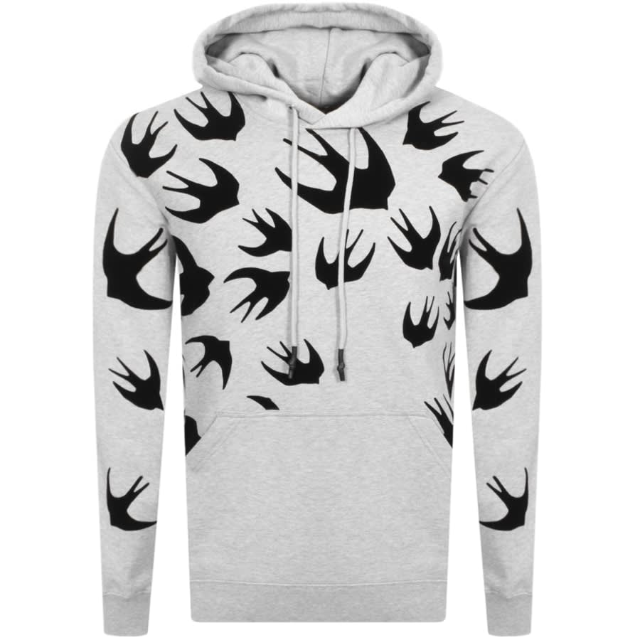 mcq alexander mcqueen swallow hoodie grey mainline menswear denmark alexander mcqueen