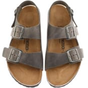 Product Image for Birkenstock Milano Leather Sandals Grey