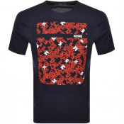 Product Image for Michael Kors Scattered Logo T Shirt Navy