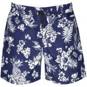 Product Image for Ralph Lauren Traveller Floral Swim Shorts Navy