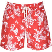 Product Image for Ralph Lauren Traveller Floral Swim Shorts Red
