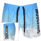 Product Image for Moschino Logo Swim Shorts Blue