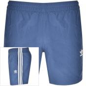 Product Image for adidas Originals 3 Stripes Swim Shorts Navy
