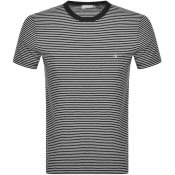 Product Image for Calvin Klein Small Stripe Logo T Shirt Black