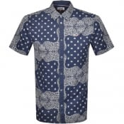 Product Image for Tommy Jeans Bandana Short Sleeve Shirt Blue
