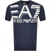 Product Image for EA7 Emporio Armani Crew Neck Logo T Shirt Navy
