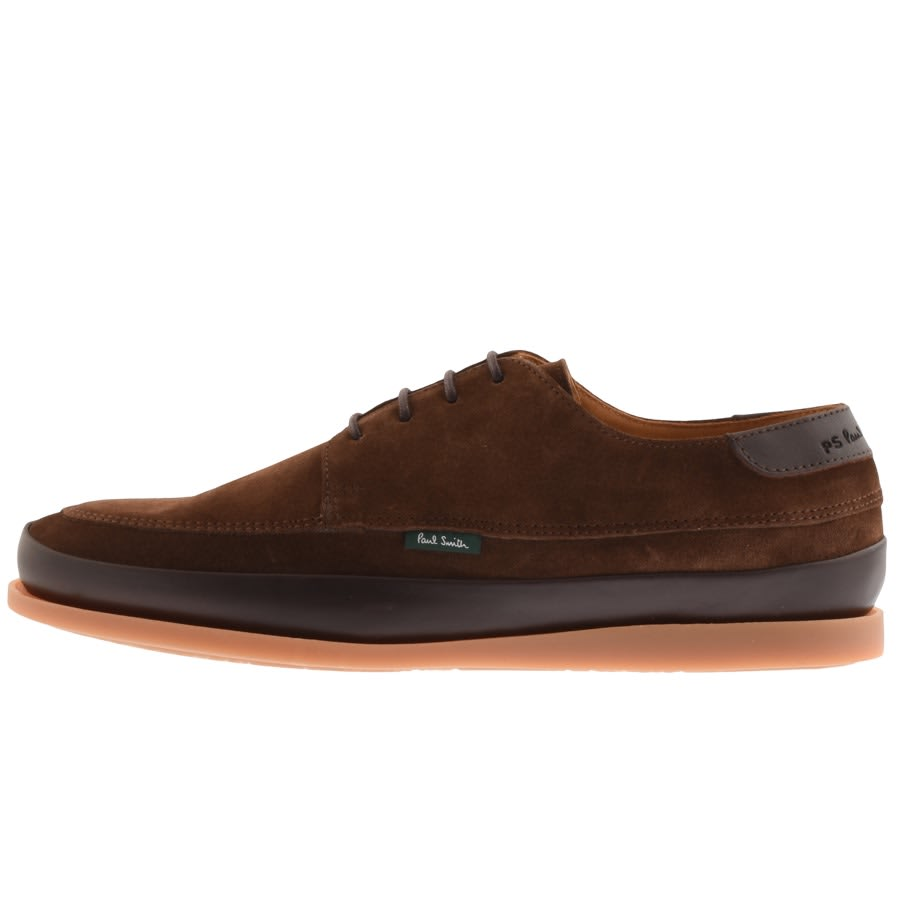 PS By Paul Smith Broc Boat Shoes Brown