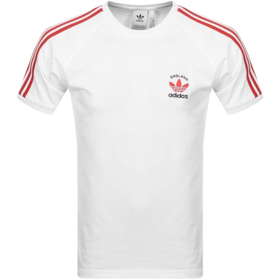 público fácilmente embudo  Adidas Originals 3 Stripe England T Shirt White | Mainline Menswear