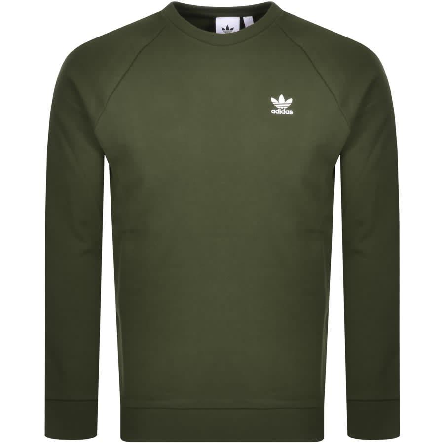 Color rosa Suburbio Adaptabilidad  Adidas Originals Essential Sweatshirt Green | Mainline Menswear
