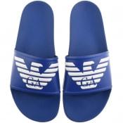 Product Image for Emporio Armani Logo Sliders Blue