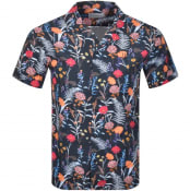 Product Image for Les Deux Floral Dete Short Sleeved Shirt Navy