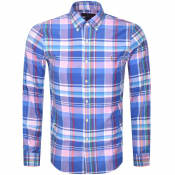Product Image for Ralph Lauren Oxford Slim Long Sleeve Shirt Blue