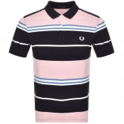 Product Image for Fred Perry Striped Polo T Shirt Navy