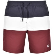 Product Image for Fred Perry Colour Block Swim Shorts Burgundy