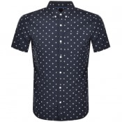 Product Image for Superdry Seersucker Short Sleeved Shirt Navy