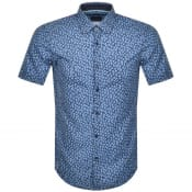 Product Image for BOSS Ronn Short Sleeved Shirt Navy