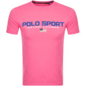 Product Image for Ralph Lauren  Crew Neck Logo T Shirt Pink