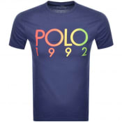 Product Image for Ralph Lauren Crew Neck 1992 Logo T Shirt Blue
