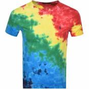 Product Image for Ralph Lauren Tie Dye Crew Neck T Shirt Yellow