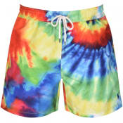 Product Image for Ralph Lauren Traveller Tie Dye Swim Shorts Red