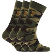Product Image for Luke 1977 Three Pack Spurs Crew Socks Green